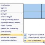 Microsoft Word: Automatischer Textumbruch in Tabellen dank fester Zellenbreite