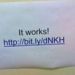 Kurz-URL auf der Toilette