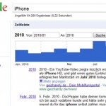 Google-Zeitleiste zeigt, wie häufig nach Begriffen gesucht wird