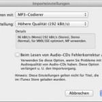 Importformat für Musik in iTunes einstellen