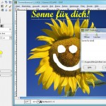 GIMP: Ein Bild mit Text beschriften