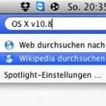 Spotlight-Suche: Wikipedia-Artikel finden