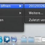 Mac OS X Lion: Auf zuletzt verwendete Dateien zugreifen