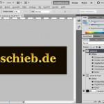 Goldene 3D-Buchstaben mit Photoshop