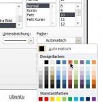 Microsoft Word: Farbe der Unterstreichung ändern