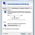 Remotedesktop: Entfernten Monitor im Vollbild oder Fenster anzeigen