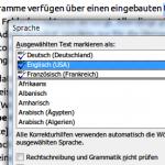 Microsoft Word: Sprache eines Textes einstellen