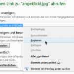 SkyDrive-Dateien und Ordner mit Kurz-Adresse freigeben