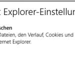 Verlauf der Metro-Version von IE10 in Windows 8 leeren
