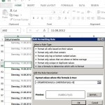 Excel: Datumswerte am Wochenende hervorheben