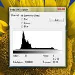 IrfanView: Helligkeits-Verteilung eines Fotos herausfinden mit dem Histogramm