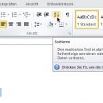 Eine Wort-Liste schnell sortieren mit Microsoft Word