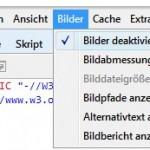 Webseiten in Internet Explorer 8 und neuer ohne Bilder ausdrucken