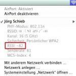 Signalstärke des WLANs messen mit OSX