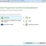 So de-installieren Sie Windows Live Messenger