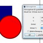 Inkscape: Hilfslinie genau platzieren