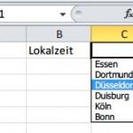 Microsoft Excel: Klappfeld zum Anklicken einfügen