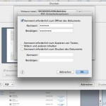 OSX: So erzeugen Sie ein kennwortgeschütztes PDF-Dokument