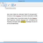 Eingebautes Screenshot-Werkzeug in Windows an- oder ausschalten