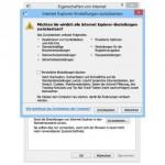 Alle Internet-Explorer-Einstellungen zurücksetzen