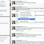 Link zu einer Twitter-Status-Meldung mit anderen teilen