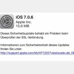 SSL-Sicherheitsupdate für iOS 7 veröffentlicht