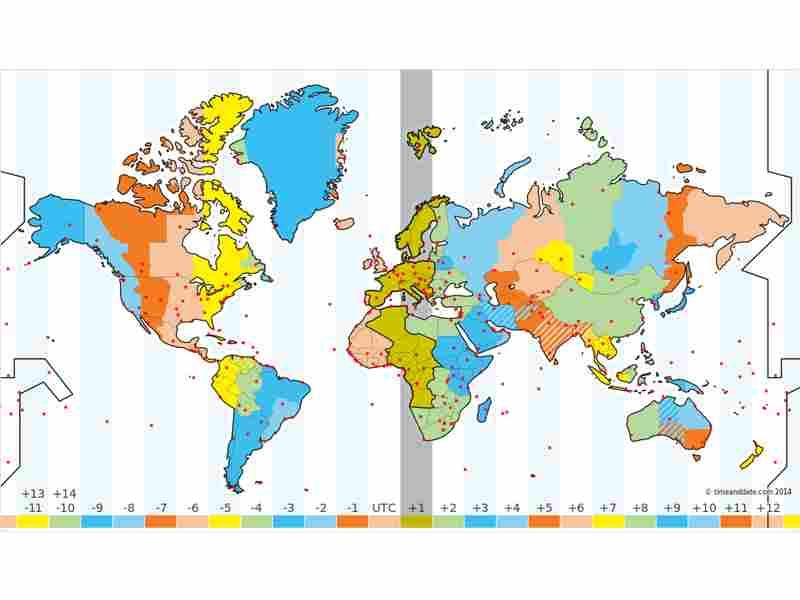Karte Zeitzonen | Karte