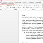 """Word 2007/2010/2013: """"Rückgängig"""" rückgängig machen"""