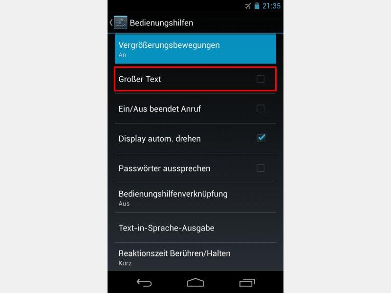 Text Und Uberprufung Android-handy