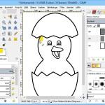 Malvorlagen am PC mit GIMP ausmalen