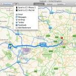 Karten und Routen vom Mac direkt aufs iPhone senden