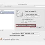 OSX: Drucker im Netzwerk freigeben