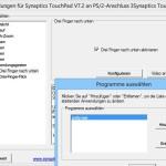 Synaptics-Touchpad: Programm schnell öffnen