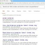 Google: Nach genau diesem Text suchen