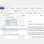 Word: Formatvorlage in einem Dokument auswechseln