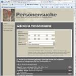 Wikipedia als Personensuchmaschine verwenden