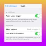 Apple Music in der iOS-Musik-App ausblenden