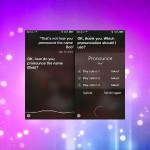 Aussprache von Namen in Siri korrigieren