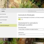 AutoPlay-Aktion für externe Laufwerke und Geräte wählen