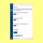 Informations-Karten in Cortana deaktivieren