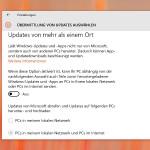 Band-Breite nicht für Windows-Updates freigeben