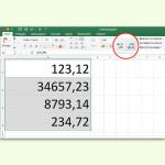 Alle Zahlen in einer Excel-Spalte oder Zeile runden