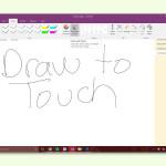 OneNote-Notizen per Finger-Eingabe schreiben
