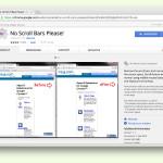 Chrome-Browser: Scroll-Leisten am Rand des Fensters ausblenden