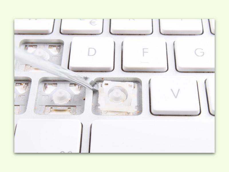 defekte taste auf der tastatur reparieren. Black Bedroom Furniture Sets. Home Design Ideas