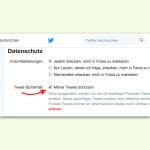 Zugriff auf die eigenen Tweets bei Twitter einschränken