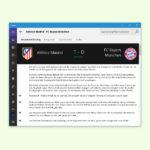 Details über Fußball-Spiele in Windows10 abrufen