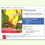 Posts von bestimmten Facebook-Seiten verschwinden lassen