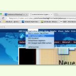 Webseite mit Fenster-Rahmen fotografieren
