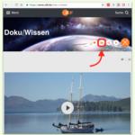 Sendungen des ZDF per eMail mit anderen teilen